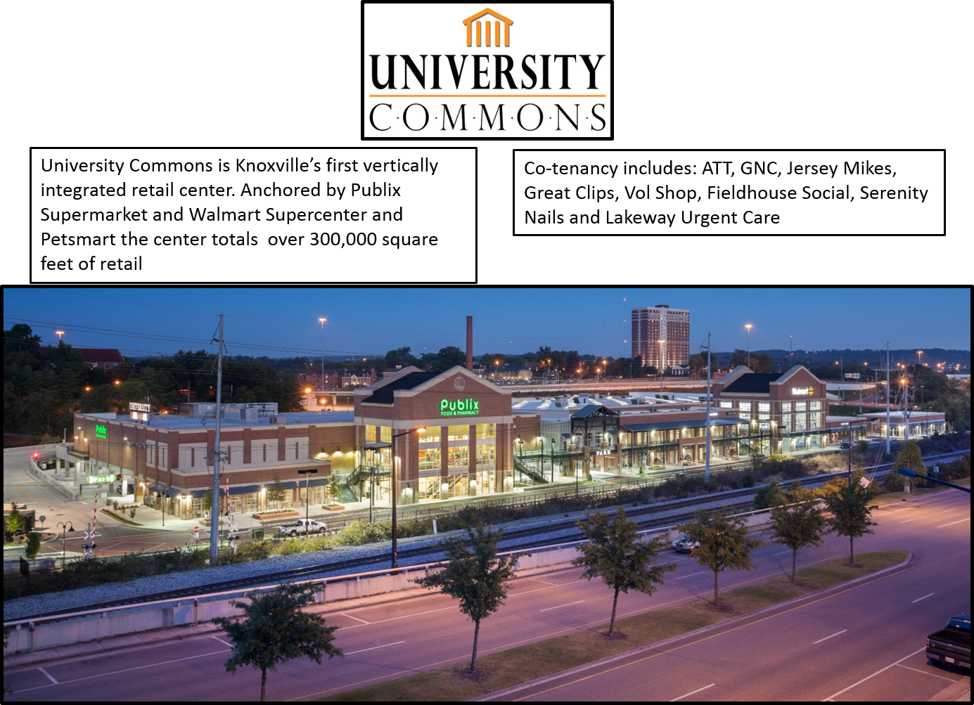 2501 University Commons Way Knoxville, TN 37996- Suite 2469 - Retail Space  for Lease